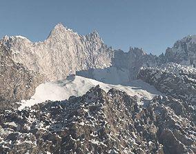 3D Rocky Mountain Range Peak 2 High Poly