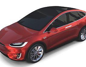 Tesla Model X Red luxury