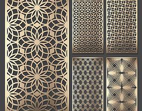 Decorative panel set 68 3D