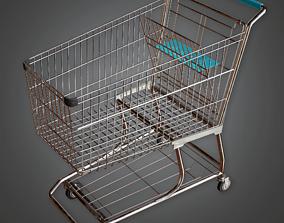3D asset SAM - Shopping Cart - PBR Game Ready