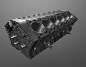 3D model PBR V12 Engine