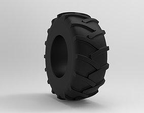 3D asset Tractor Tire - Tire 2