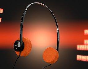 Sony MDR 04T Headphones 3D model