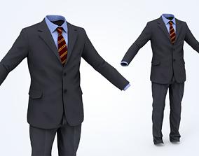 3D asset VR / AR ready Business Suit Man