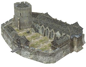 3D model Fortified Manor in obj format