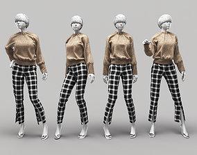 3D model Woman Mannequin 10