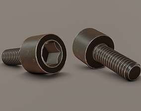Screw M6 12mm 3D asset
