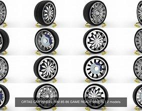 ORTAS CAR WHEEL RIM 85-86 GAME READY WHEEL 3D