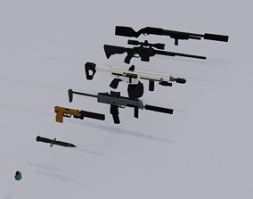 Lowpoly weapon pack model VR / AR ready