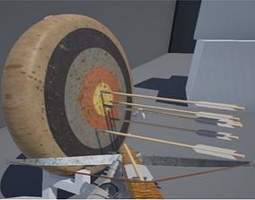 Archery Target Medieval 3D asset