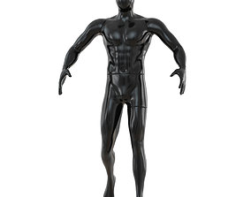 3D Faceless sports mannequin 136