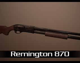 3D asset game-ready Remington 870