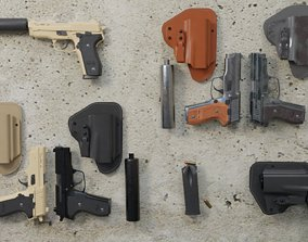 M11 Pistol Game Ready 5 Textures Low-poly 3D game-ready