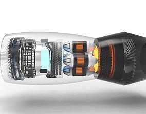 3D model Jet engine N90