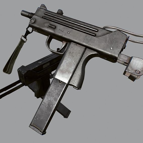 MAC - 11 lowpoly 3d model