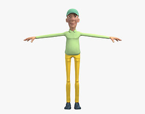 Golfer Character 3D Model no Rig VR / AR ready