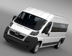3D model Peugeot Boxer Window Van L3H2 2006-2014