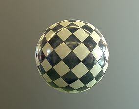 3D model Polished marble checkers PBR