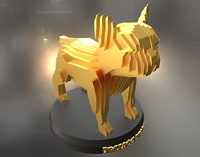 3D asset Parametric French Bulldog Puppy