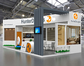 3D model 10x5Mtr Two Side Open Exhibition Stand