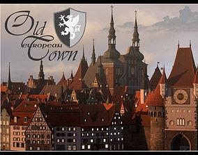 3D asset Old European Town