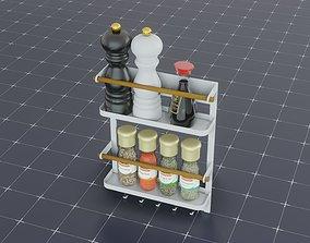 3D model PBR Spice Rack