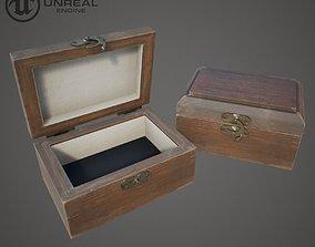 3D asset Wooden Ring Box