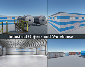 3D model Industrial Objects and Warehouse