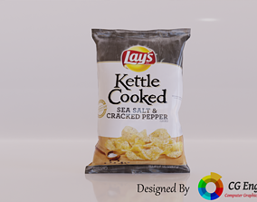 Lays Potato Chips 3D Model - Lays Kettle VR / AR ready 3