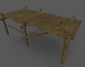 wooden jetty 3D asset