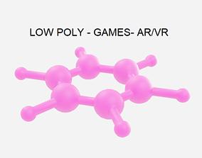 Low Poly Benzene Molecule - Chemistry 3D model