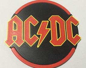 ACDC Logo Coaster 3D print model