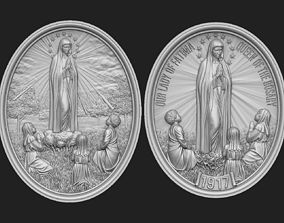 Our Lady of Fatima Medallions 3D model