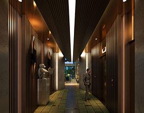 Caobang Hotel Lobby 3D