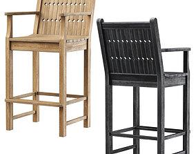 3D asset Chippendale Patio Bar stool