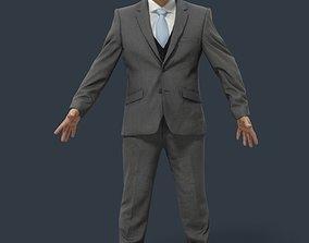 Business Man Animated Elegant - A-pose - Francis 3D asset