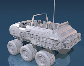 3D Desert rover with wheels