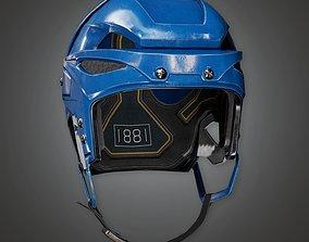 Hockey Helmet 01a - SAG - PBR Game Ready 3D asset