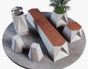 3D asset Street set