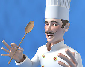 3D model Cartoon Chef