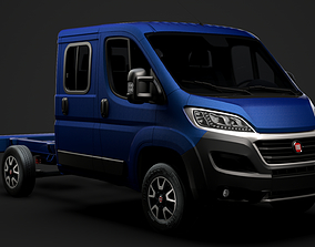3D model Fiat Ducato Chassis Truck Crew Cab 3450 WB 2019