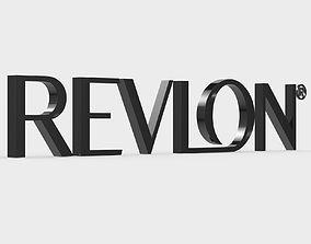 revlon logo 3D