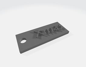 3D printable model Xmas Keychain