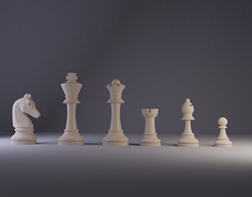 3D model king Chess pieces