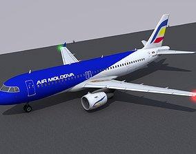 Airbus A320 livery Air Moldova 3D model