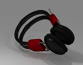 3D Wireless Headphones - Black and Red