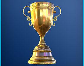 3D model Gold trophy