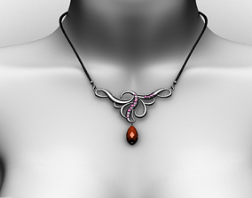 3D model low-poly Necklace