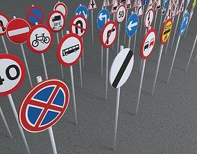 road traffic sings pack 3D