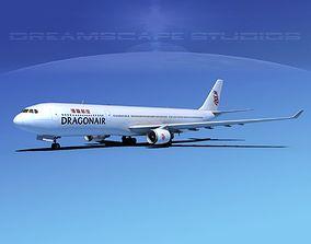 3D model Airbus A330-300 Dragonair